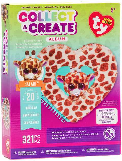 Beanie Boos Collect & Create Album-Safari The Giraffe