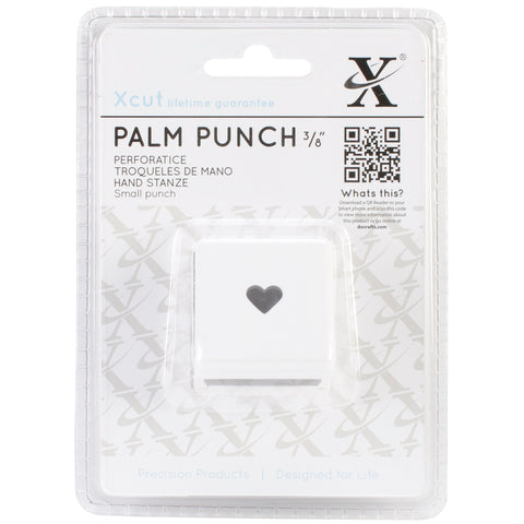 Xcut Small Palm Punch-Traditional Heart, .375""