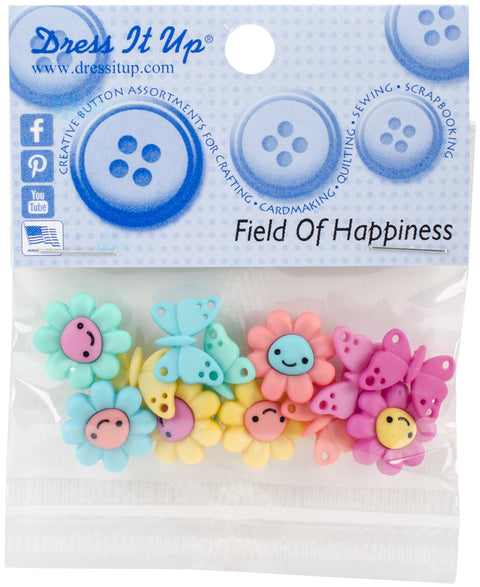Dress It Up Embellishments-Field Of Happiness