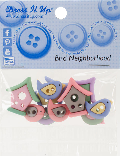 Dress It Up Embellishments-Bird Neighborhood