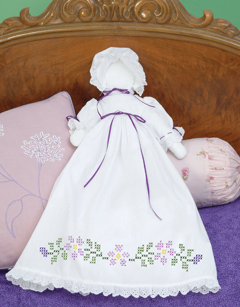 Jack Dempsey Stamped White Pillowcase Doll Kit-XX Starflowers