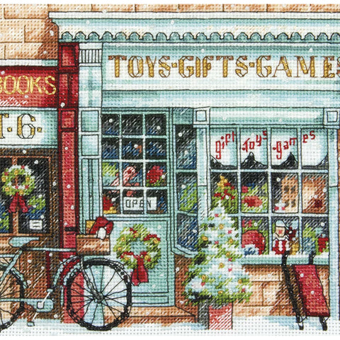 "Dimensions Gold Petite Counted Cross Stitch Kit 6""X6""-Toy Shoppe (18 Count)"