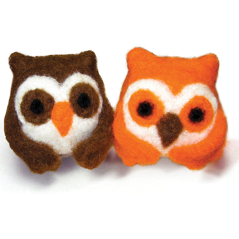 Dimensions Feltworks Ball Learn Needle Felting Kit-Owls