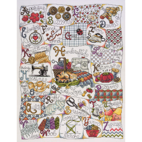 "Design Works Counted Cross Stitch Kit 16""X20""-Stitching ABC (14 Count)"