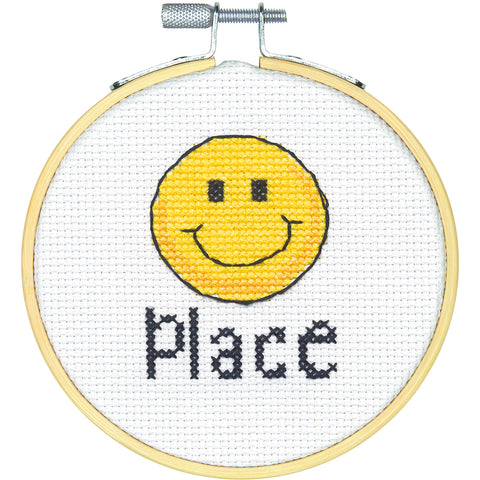"Stitch Wits Happy Place Mini Counted Cross Stitch Kit-4"" 14 Count"