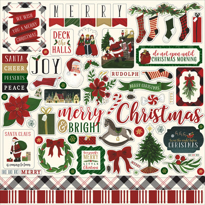 "'Twas The Night Before Christmas Cardstock Stickers 12""X12""-Element Vol. 2"