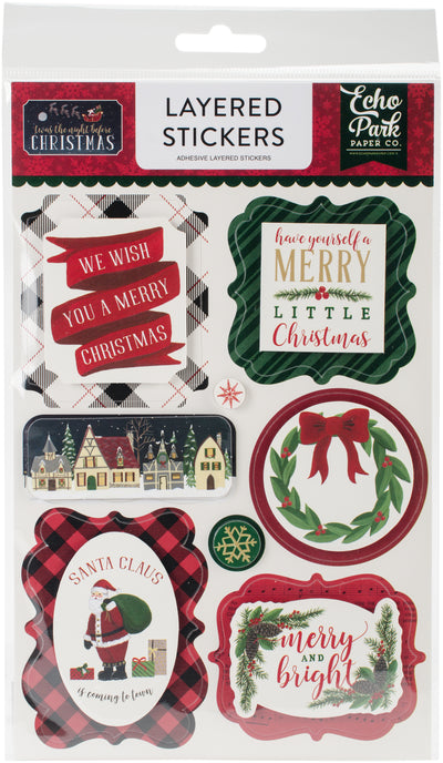 'Twas The Night Before Christmas Layered Stickers-