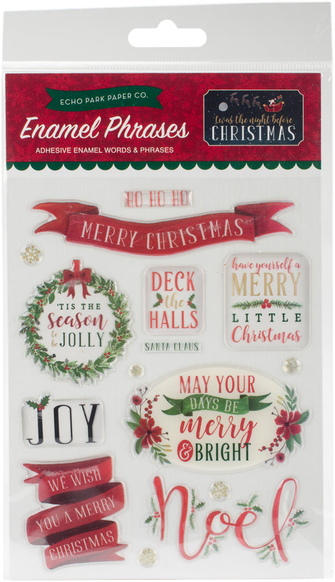 'Twas The Night Before Christmas Adhesive Enamel Embellishmt-Words & Phrases
