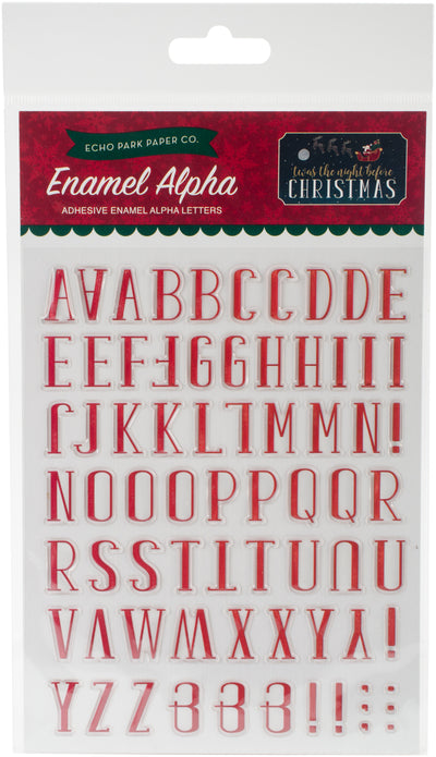 'Twas The Night Before Christmas Adhesive Enamel Embellishmt-Alpha Letters