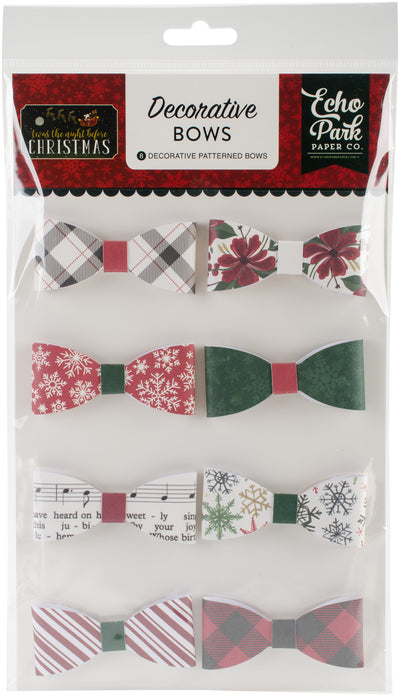 'Twas The Night Before Christmas Decorative Bows 8/Pkg-