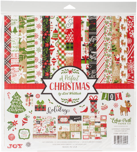"Echo Park Collection Kit 12""X12""-A Perfect Christmas"