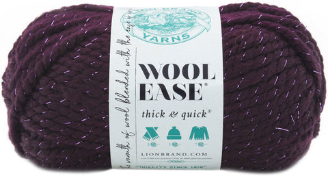 Lion Brand Wool-Ease Thick & Quick Yarn-Galaxy - Metallic