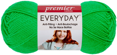 Premier Yarns Anti-Pilling Everyday Worsted Solid Yarn-Electric Green