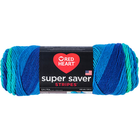 Red Heart Super Saver Yarn-Cool Stripe
