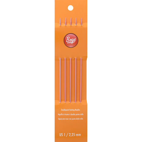 "Boye Double Point Aluminum Knitting Needles 7""-Size 1/2.25mm"