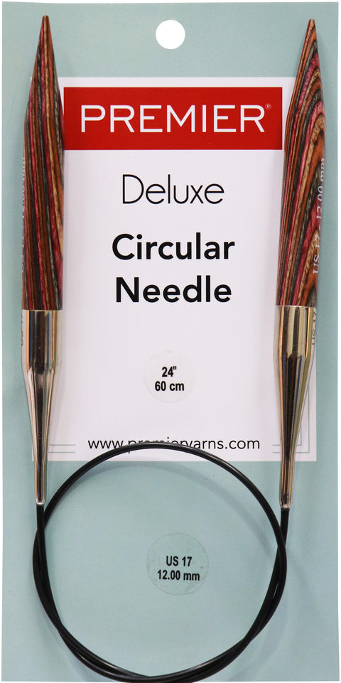 "Premier Fixed Circular Knitting Needles 24""-Size 17/12mm"