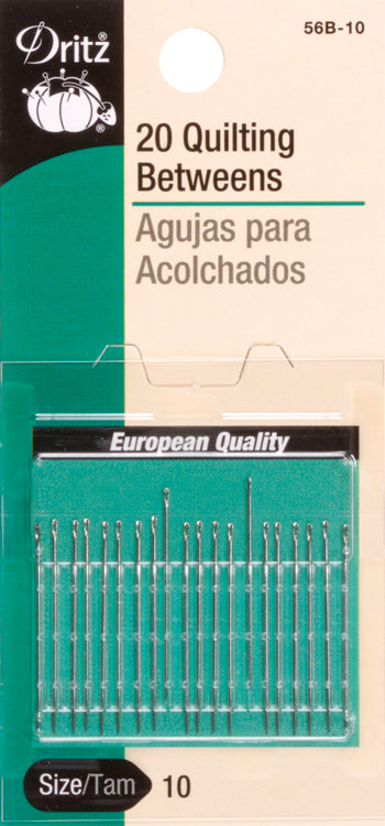 Dritz Quilting Betweens Hand Needles 20/Pkg-Size 10