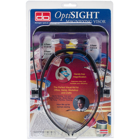 Donegan OptiSIGHT Magnifying Visor-Black