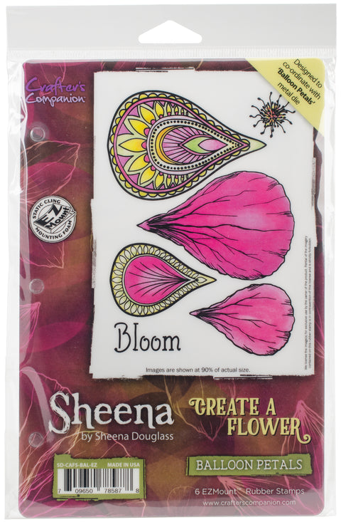 Sheena's Create A Flower EZMount Stamps-Balloon Petals