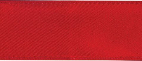 "Cascade Satin Wired Edge Ribbon 1-1/2"" 20yd-Red"