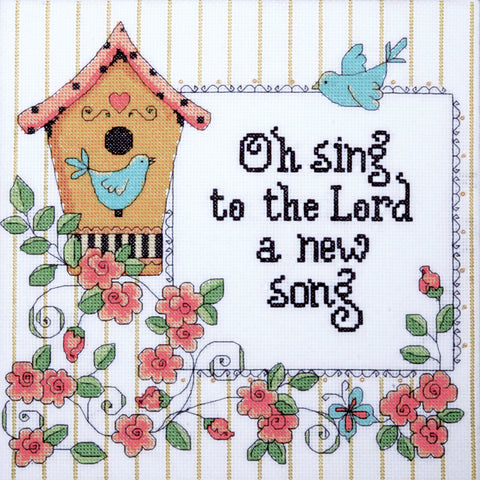"Design Works Counted Cross Stitch Kit 10""X10""-Heartfelt A New Song (14 Count)"