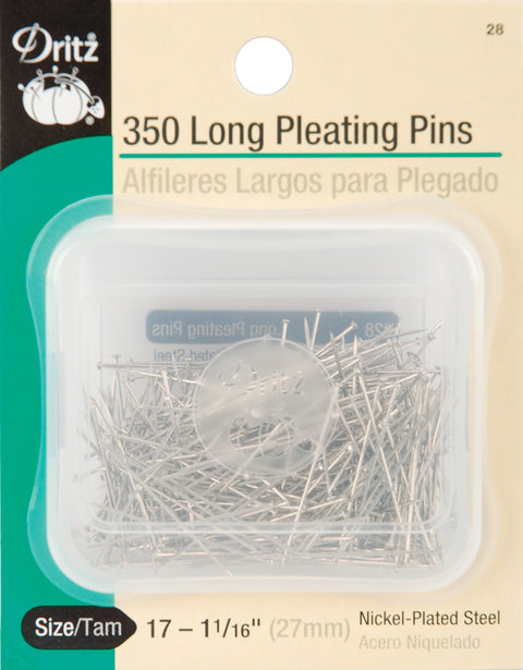 Dritz Long Pleating Pins 350/Pkg-Size 17