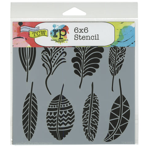 "Crafter's Workshop Template 6""X6""-Fancy Feathers"