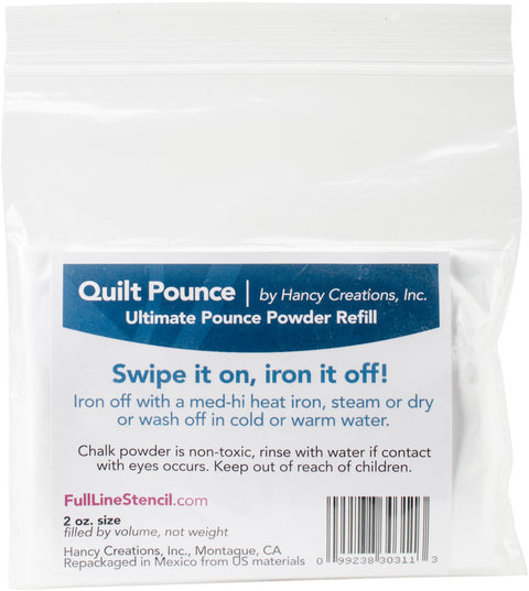 Hancy Ultimate Quilt Pounce Chalk Refill -2oz White
