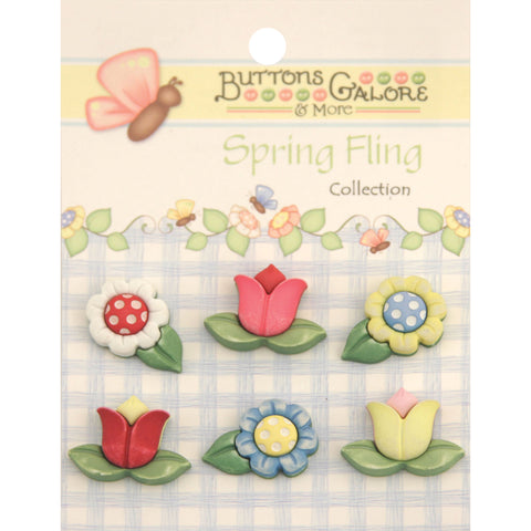 Buttons Galore Spring Fling Buttons-Spring Flowers