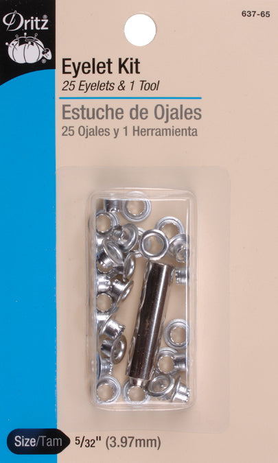 Dritz Eyelet Kit W/Tools 25/Pkg-Nickel