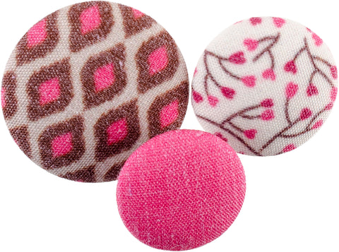 Blumenthal Fabricraft - Fabric Covered Buttons 8/Pkg-Pink Snake Skin