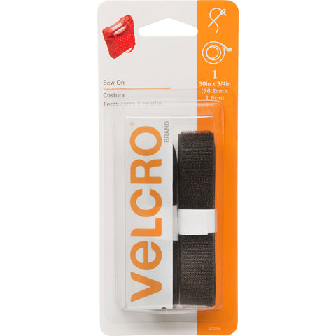 "VELCRO(R) Brand Sew-On Tape .75""X30""-Black"