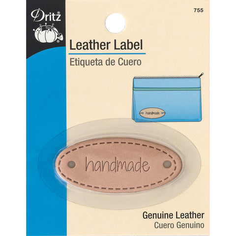 Dritz Leather Label-Handmade-Oval