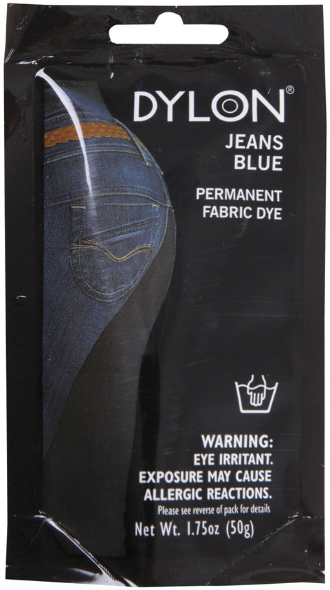 Dylon Permanent Fabric Dye 1.75oz-Jeans Blue