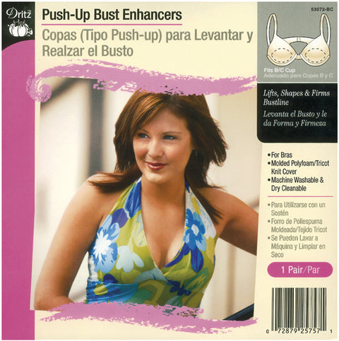 Dritz Push-Up Bust Enhancers-Fits A/B Cup