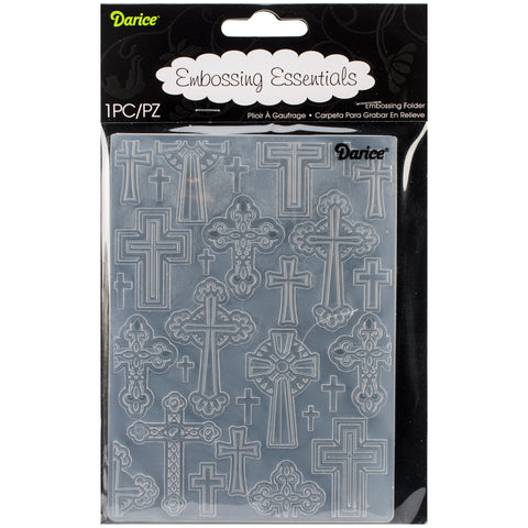 "Embossing Folder 4.25""X5.75""-Crosses"