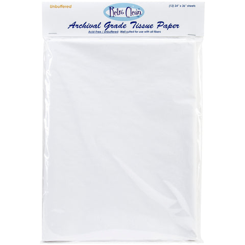 "Retro Clean Archival Grade Tissue Paper - Unbuffered-24""X36"" 12/Pkg"