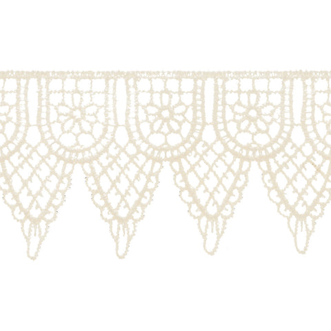 "Simplicity Double Scalloped Venice Lace 2.25""X10yd-Candlelight"