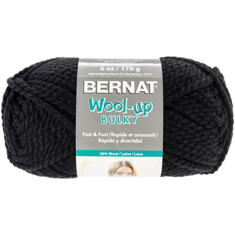 Bernat Wool-Up Bulky Yarn-Black