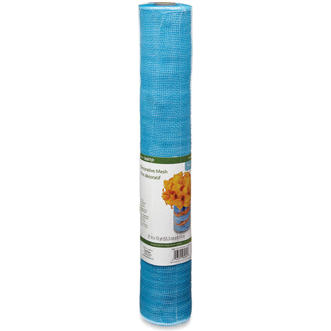 "Decorative Mesh Roll 21""X10yd-Turquoise"
