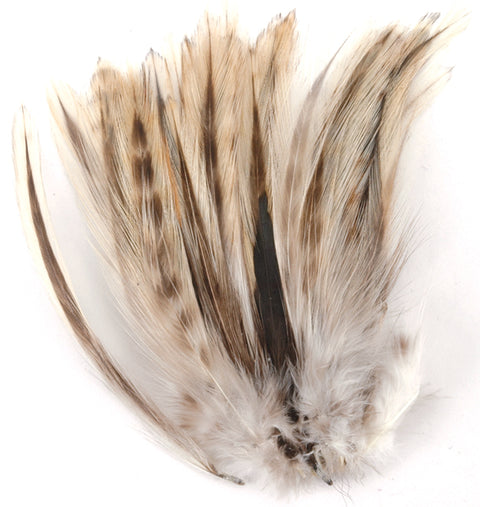 Strung Badger Feathers-Natural