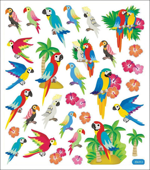 Sticker King Stickers-Parrots