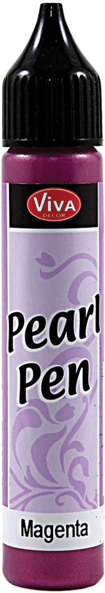 Viva Decor Pearl Pen 25ml-Magenta