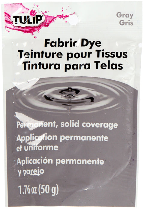 Tulip Permanent Fabric Dye 1.76oz-Hot Gray
