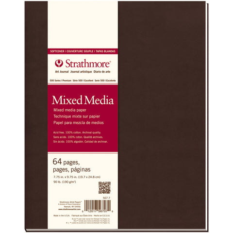 "Strathmore Mixed Media Softcover Journal 7.75""X9.75""-32 Sheets"