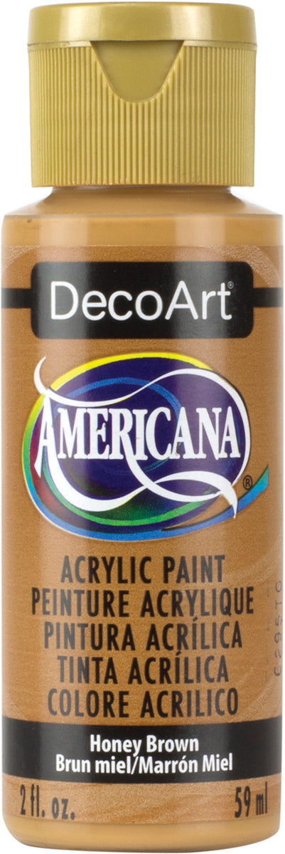 Americana Acrylic Paint 2oz-Honey Brown - Opaque