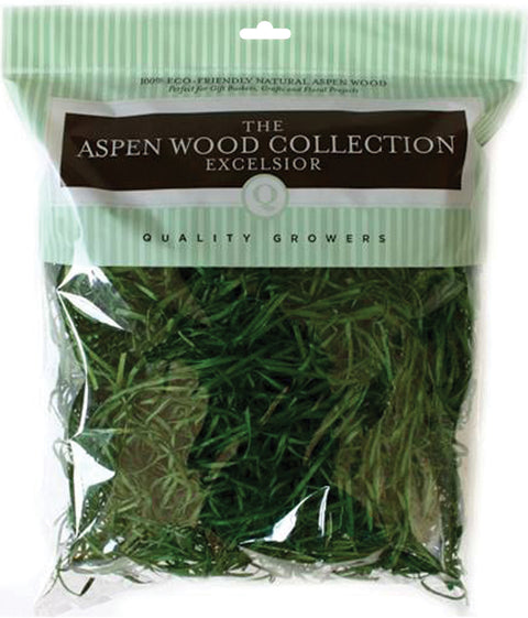 Quality Growers Aspenwood Excelsior 328 Cubic Inches-Wood Green