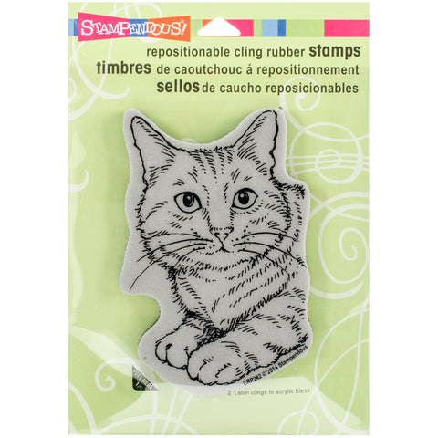 "Stampendous Cling Stamp 4.75""X4.5""-Feline Fun"