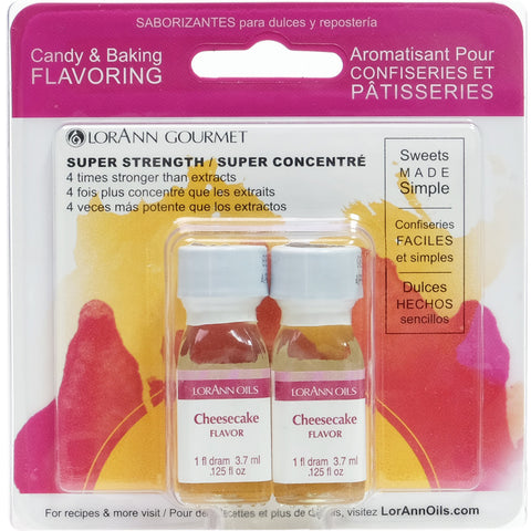 Candy & Baking Flavoring .125oz 2/Pkg-Cheesecake