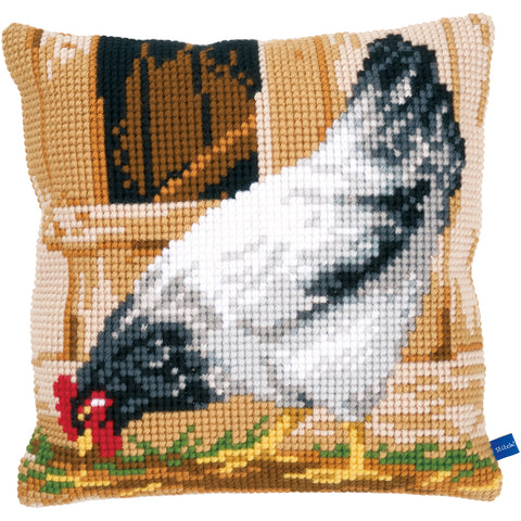 "Vervaco Needlepoint Cushion Top Kit 16""X16""-Grey Hen"